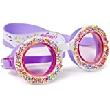Swimming Goggles For Girls - Do 'Nuts' 4 U Kids Swim Goggles By Bling2o (Grape Jelly)