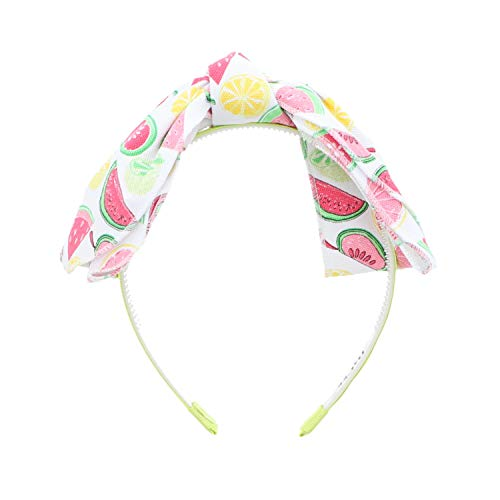 Canvas Knotted Floppy Large Bow Hair Band Headband Hair Band Mixed -