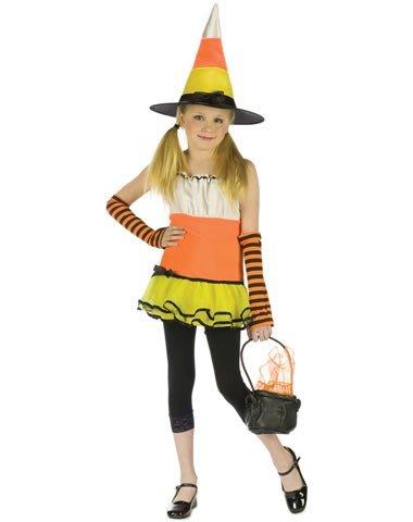 Fun World Girls' Candy Corn Witch Costume