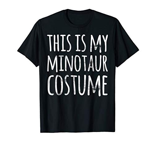 Funny Lazy Halloween T Shirt THIS IS MY MINOTAUR COSTUME]()