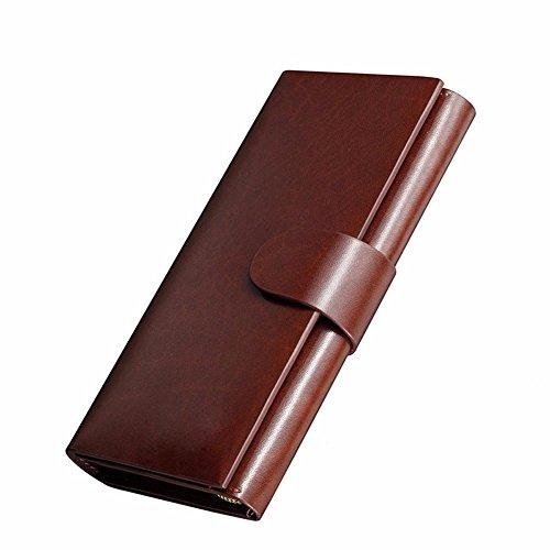 zero money Men's handbag clasp wallet long waterproof big business wallet NHGY clip leather WRUqgPP