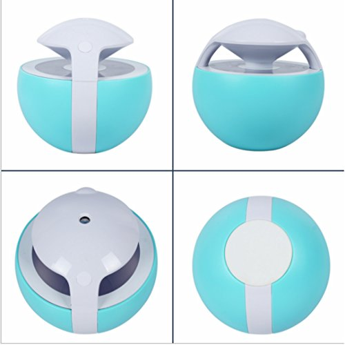 Nanum Colorful Elves Cool Mist Humidifier 450ml Ultrasonic Adjustable Mist Mode Waterless Auto Shut-off and 7 Colors Changing for Office Bedroom Baby (Blue) by Nanum (Image #1)