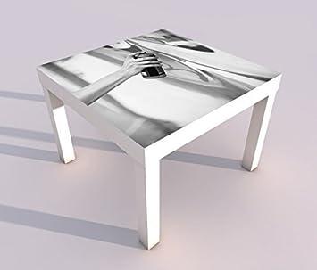 Schon Design   Tisch Mit UV Druck 55x55cm Schwarz Weiß Malerei Kunst Graffiti  Sprühdose Spieltisch Lack Tische