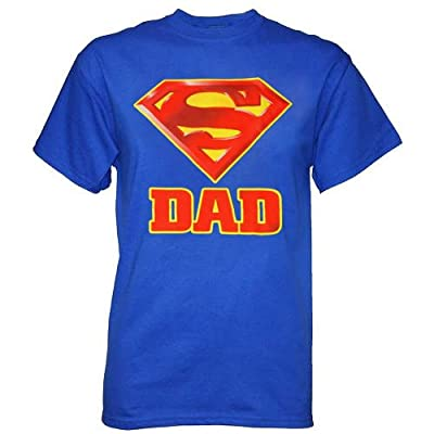 Superman Logo Dad's Super Father's Day Men's T-Shirt, XX-Large