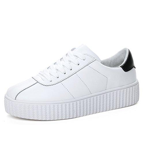 Primavera Zapatos De Cuero Blanco,Zapatillas De Deporte De La Mujer,Zapatos Del Tablero Del,Ocio Coreano Zapatos,Zapatos De Plataforma Mujer B