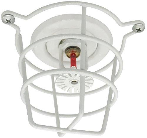 (2 Pack) White Fire Sprinkler Head Guard for Both 1/2