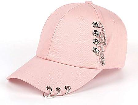 YIERJIU Gorra Gorras Beisbol Moda Anillo de Hierro Bola KPOP Sombreros Gorra de béisbol Ajustable Sombreros Moda Snapback Sombreros Mujeres Sombrero para el Sol Hombres,Rosa