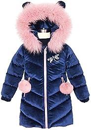 madows kids coat New Children's Winter Jacket for Girls Thicken Girls Fur Hooded Velvet Girls Jackets Oute