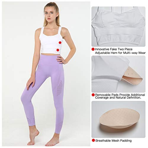 fb21ae4798 Snailify Women s Sports Bra Racerback Full Coverage High Impact Strappy Bra-  Yoga Gym Workout at Amazon Women s Clothing store
