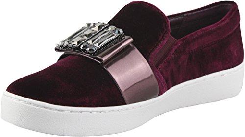 MICHAEL Michael Kors Women's Plum Black Slip-On Embellished Sneakers 11 B US Women