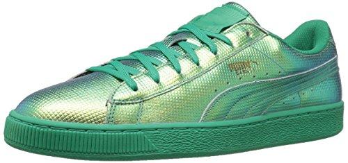 Puma Mens Basket Classico Olografico Moda Sneaker Flash Verde