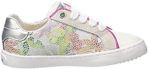 Geox J Kilwi Girl J, Zapatillas Para Niñas Blanco (White/multicolor)
