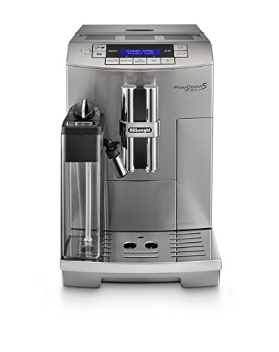 DeLonghi ECAM28465M Prima Donna Fully Automatic Espresso Machine with Lattecrema System, Milk Frother and Memory function, Stainless Steel
