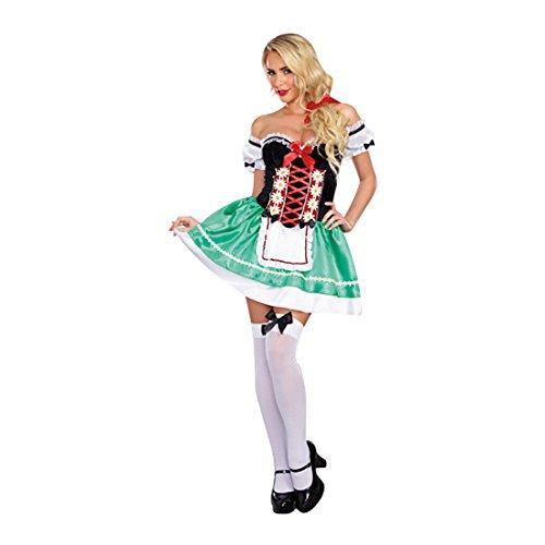 Dreamgirl Women's Bavarian Babe Costume, Multi, Small -