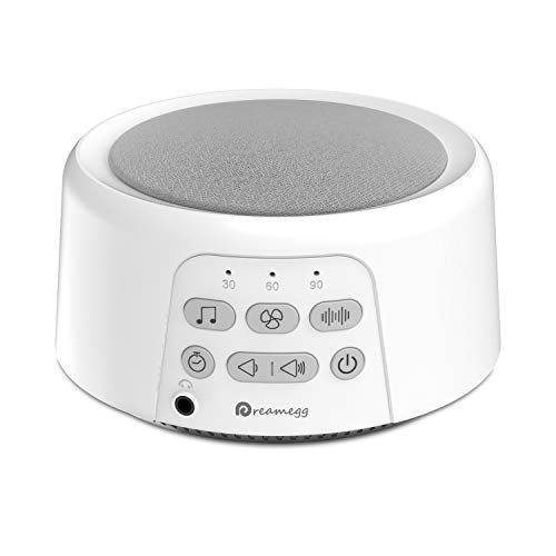 (Dreamegg D3 Portable Sound Machine - White Noise Machine for Sleeping, 24 Soothing HiFi Sound, Continuous or Timer, Sleep Therapy Sound Machine for Baby Adult Traveler, Rechargeable Battery or Plug In)