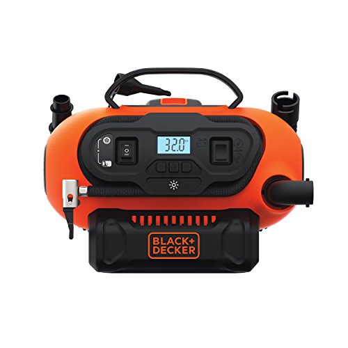 BLACK+DECKER 20V MAX Multi-purpose Inflator, Cordless & Corded Power - Tool Only (BDINF20C) (Black Decker Car Battery Charger)
