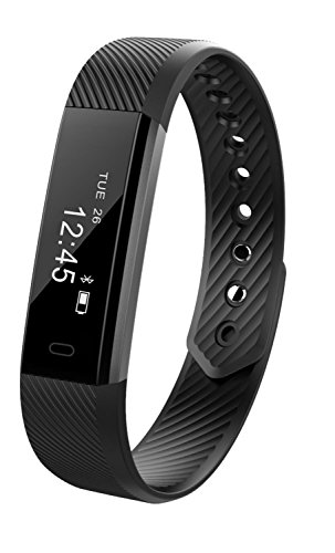 Fitness Tracker Smart Bracelet TopBest ID115 Bluetooth Call Remind Remote Self Timer Smart Watch Activity Tracker Calorie Counter Wireless Pedometer Sport Band Sleep Monitor For Android iOS Phone