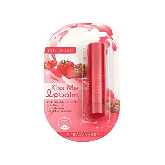 Swiss Beauty Lip Balm, Strawberry, 4.5g