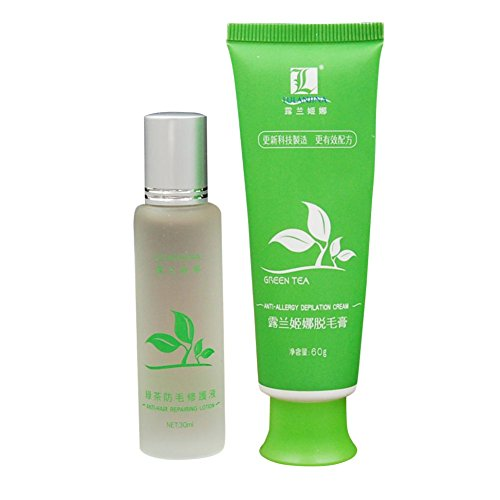 Spdoo Green Tea Fast Hair Removal Cream 60g + Lotion 30ml Set Body Hair Removal For Unisex Body Hair Remover Cream