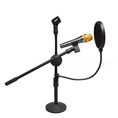 AIBULO Best Made Dual Black Layer Record Studio Microphone Mic Windscreen Pop Filter Mask Shield