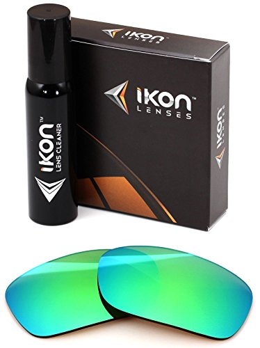 Polarized Ikon Iridium Replacement Lenses For Oakley Fives Squared Sunglasses - Emerald Green - Emerald Iridium Lenses