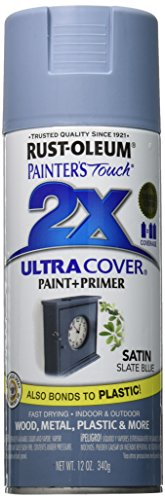 Rust-Oleum 249066 Painter's Touch 2X Ultra Cover, 12-Ounce, Satin Slate Blue