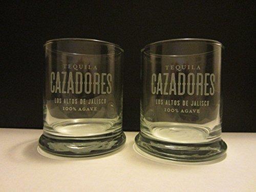 Set of 2 Tequila Cazadores Los Altos De Jalisco Mexico Round Lowball Rocks Tumbler Glasses