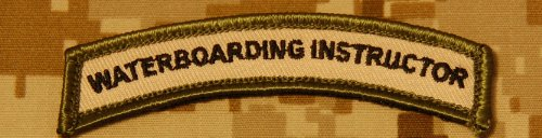 The Tactical Waterboarding Instructor Tab Combat Army Morale Velcro Patch
