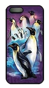 iPhone 5S Case,Emperor Penguins Custom PC Hard Case Cover for iPhone 5/5S Black