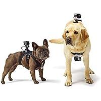 Techna Mx Arnés para Perro Todas Las Razas Correa de Pecho de Montaje Fetch Dog Harness para GoPro Hero 1 2 3 3+ 4 5 6 7, Session, Xiaomi Yi, SJ4000 SJ5000 SJ6000 SJ7000