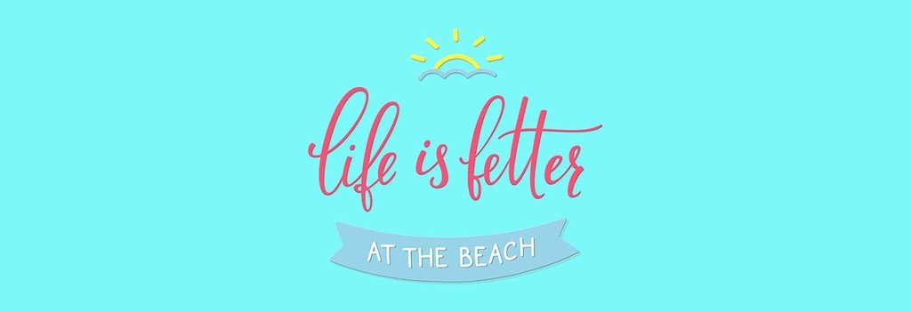Life Is Better At The Beach. Fun Beach Summer Bed Runner Scarf Twin/Full/Queen/King Size