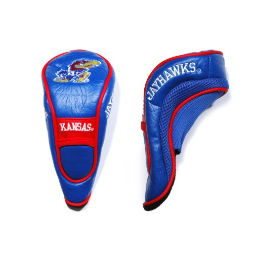 Team Golf NCAA Kansas Jayhawks Hybrid Golf Club Headcover, Hook-and-Loop Closure, Velour lined for Extra Club Protection