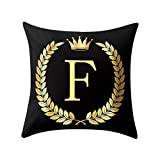 Weiliru Black Pillow Cover Throw Pillow Case English LetterThrow Pillow Case Modern Cushion Cover Square Pillowcase Decoration for Sofa Bed Chair Car