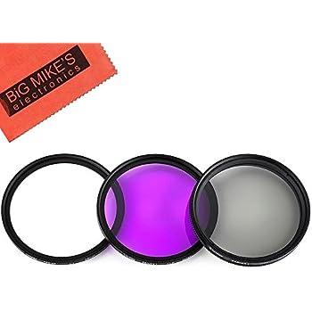 Amazon Com 58mm Multi Coated 3 Piece Filter Kit Uv Cpl
