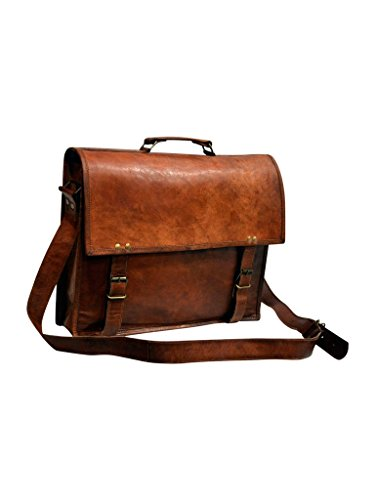 Messenger of Leather Vintage Leather Laptop Bag, Messenger Bag. 11'' x 15'' x 3.5'' by Messenger of Leather (Image #1)