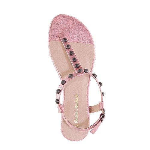 Andres Machado AM5239 Shiny-Patent T-Bar Tack Flat Sandals.Large Sizes:UK 8 to 10.5/EU 42 to 45. Pink Shiny-patent nQuwmEkHw
