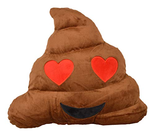 Deals India Heart Eyes Emoji Dark Brown Poop Cushion Pillow Stuffed Plush Toy  35cm