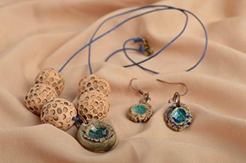 025c4fe86cbe Colgante para el cuello y pendientes de moda bisuteria artesanal para mujer