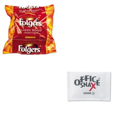 KITFOL06114OFX00021 - Value Kit - Sugar Packets (OFX00021) and Folgers Regular Coffee Filter Pack, .9 Ounce (FOL06114) by Office Snax