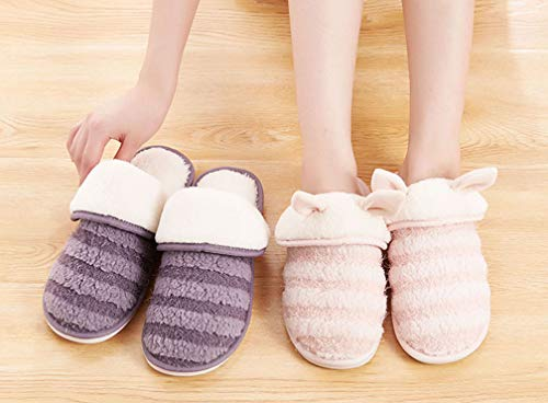 Womens Warm Cozy Cute Shoes House Home Pink Fuzzy Winter Slipper 7rqwE7C