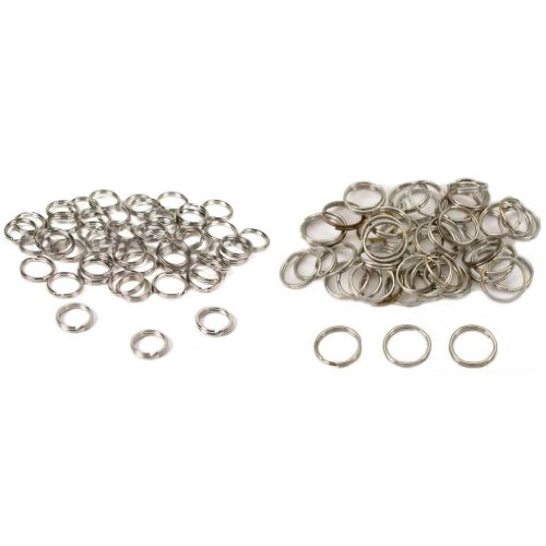 Nickel Plated Split Rings For Connecting Jewelry 9mm & 12mm Kit 100 Pcs