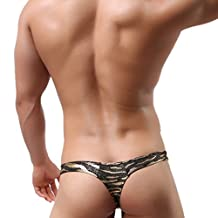 Panegy Men's Sexy T-Back Underwear Thong G-string Bulge Pouch Underpants