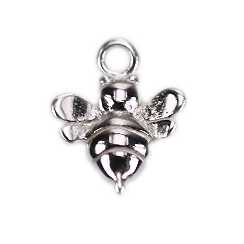 Charms Bee Baby (Amoracast Sterling Silver Baby Bumble Bee 8x11mm, 8 x 11mm)