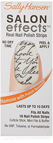 Sally Hansen La Cross - Sally Hansen Salon Effects Real Nail Polish Strips, Love Letter, 16 Count