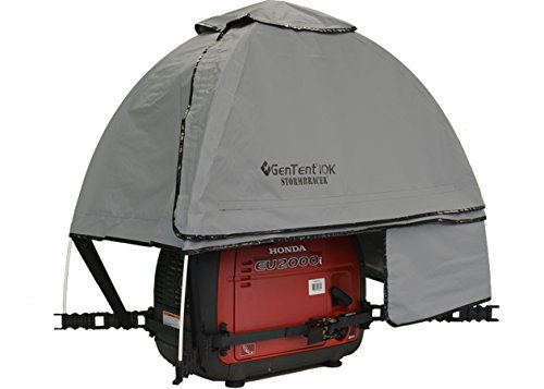 GenTent 10K Generator Tent Running Cover - XKI Kit (Standard, GreySkies) - Compatible with 1000w-3000w Inverter Generators by GenTent Safety Canopies (Image #5)