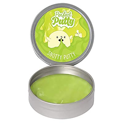 iscream Fizz Creations Perfect Putty Snotty Green Putty in Reusable Tin: Toys & Games