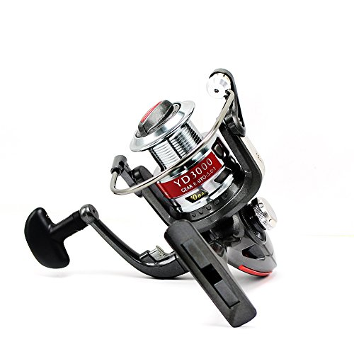 Tact-Pro Open Face Spinning Fishing Reel Baitrunner, Metal Material with 4.7:1 Gear Ratio 10 Ball Bearings, Freshwater/Saltwater (YD5000) Bass Pro Round Reels