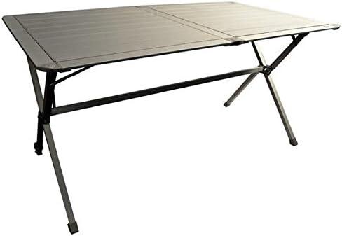 VIAMONDO Mesa de Camping 6 plazas de Aluminio Plegable y ...