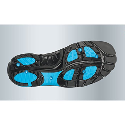 "Abeba 34571-48 tamaño 48 ""ESD-Crawler"" zapato seguridad bajo - negro/azul"