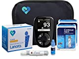 Contour Next Diabetes Testing Kit | Contour Next Blood Glucose Meter, 100 Contour Next Blood Glucose Test Strips, 100 Lancets, Lancing Device, Control Solution, Log Book, User Manuals & Carry Case